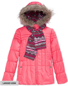 Girl's and Boy's Puffer Jackets just $16.99!!! Reg. $70! Macy's Lowest Prices of the Season Sale!!