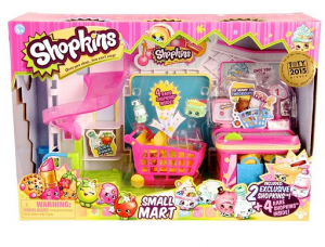 Shopkins Small Mart & 4 Rare Shopkins Set just $16.14!! Reg. $40