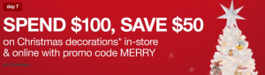 Target: *HOT* Save $50 when you Spend $100 on Christmas Decorations!!