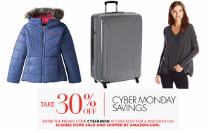 Amazon Cyber Monday!! 30% off Select Clothing, Luggage, Clothes and More!