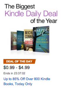 Biggest Kindle Daily Deal of the Year!! Over 800 Books just 99¢ to $4.99!!