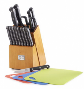 Chicago Cutlery Essence 18-pc. Knife Block Set with Chopping Mats just $23.99! Reg $99!