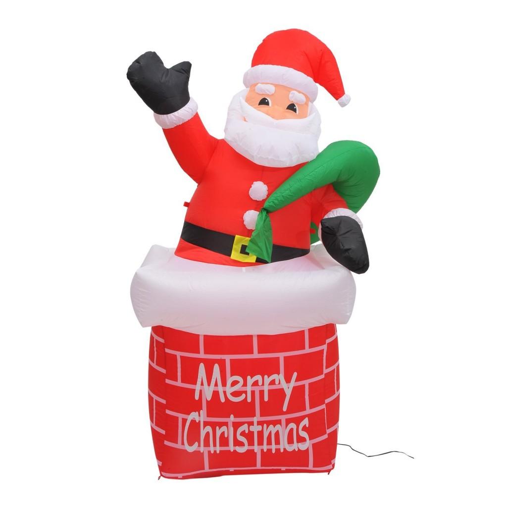 6 foot inflatable santa claus chimney yard decoration only for 4 foot santa claus decoration