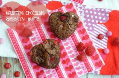 Valentine Chocolate Raspberry Hearts