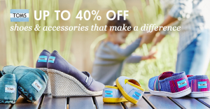 TOMS Shoes up to 40% off on Zulily!!