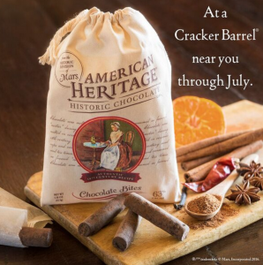 American Heritage Chocolate Available at Cracker Barrel!