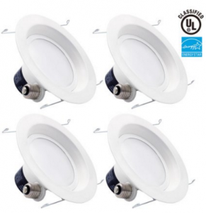 4-PACK TORCHSTAR 18W 6inch LED Retrofit Recessed Lighting Fixture only $53.77 (reg. $74.99)!!!