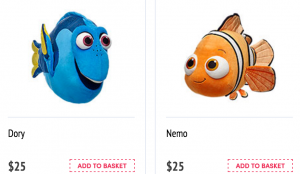 Build-A-Bear has Dory and Nemo!! FREE Shipping!