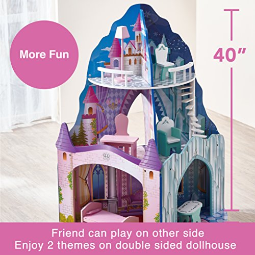 Teamson Kids Dual Theme Ice Dream Castle Wooden Doll
