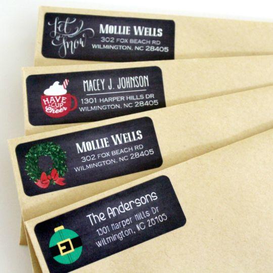 Holiday Chalkboard Address Labels - 15 Designs - only $6.49! (Reg ...
