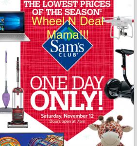Sams Club One Day Only PRE BLACK FRIDAY Ad November 12!!!!