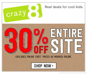 Crazy 8 Black Friday Sale is HERE