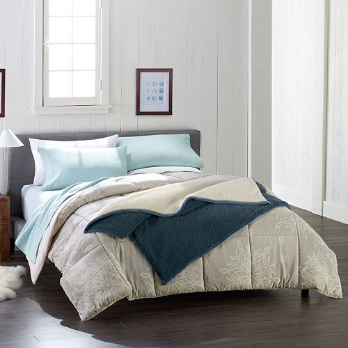 cuddle dud sheets, comforter and sherpa blanket as low as $10.70