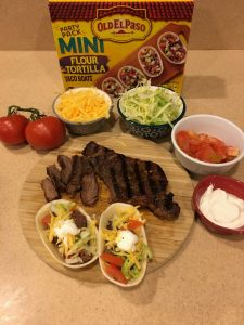 Old El Paso Flour Mini Boats Steak Tacos