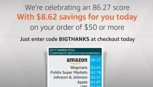 Get $8.62 off a $50 order at Amazon