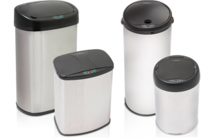 Touch-Free Stainless Steel Trash Can 2-Piece Set $54.99 Shipped