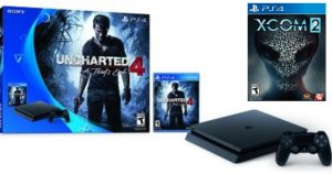 PlayStation 4 Slim Console, Uncharted 4 + XCOM 2 Games + Headset Bundle $230 Shipped