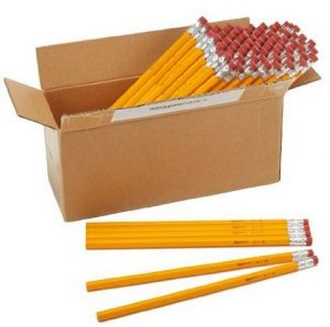 AmazonBasics Wood-cased #2 HB Pencils – Box of 96 $4.95