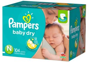 80 Pampers Swaddlers Sensitive Newborn Diapers $15.39 Shipped