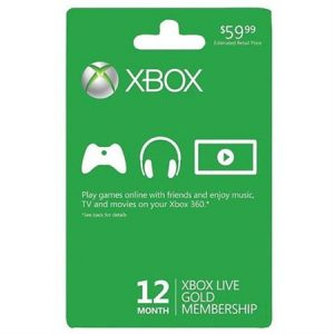 XBox Live Gold 12 Month Membership $39.99 Shipped