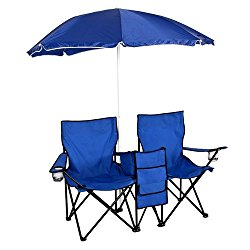Best Choice  Picnic Double Folding Chair w Umbrella Table Cooler $24.99 (reg. $49.99)