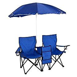 Best Choice  Picnic Double Folding Chair w Umbrella Table Cooler $24.99 (reg. $49.99)