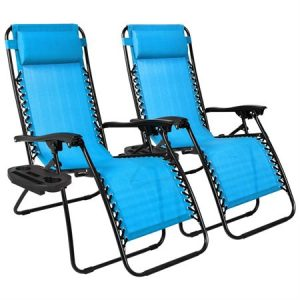 TWO Zero Gravity Chairs w/ Cupholder Trays $54.99 Shipped