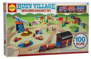 ALEX Toys Busy Village Wooden Railway Set $49.99 (reg. $149.99)
