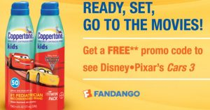 FREE $12 Fandango Ticket When You Buy 2 Coppertone Products