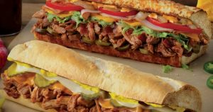 Buy 1 Get 1 Free Pulled Pork Subs at Quiznos Tomorrow May 16!!!