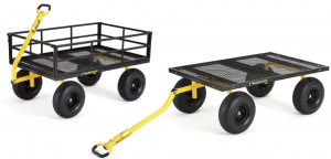Gorilla Carts Heavy-Duty Steel Utility Cart with Removable Sides and 15″ Tires $181.63 (Reg. $229.99)