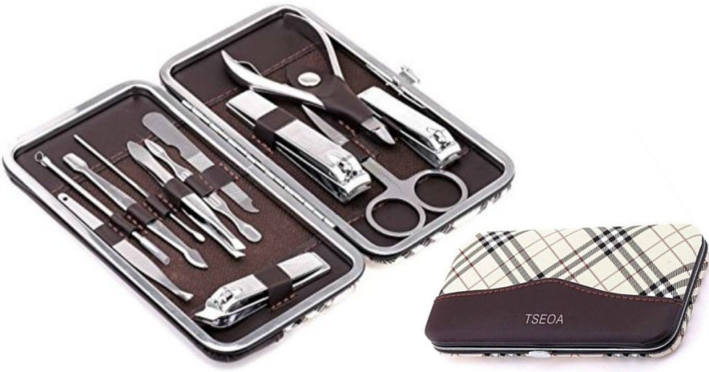 12 piece Tseoa Manicure Pedicure Kit & Nail Clippers Set $7.91 (Reg ...