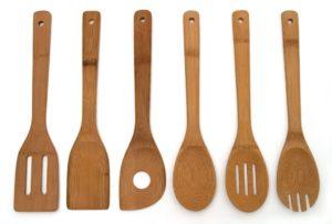 Set of 6 Bamboo Kitchen Tools $4.59
