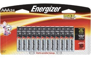 24 Count AAA Energizer Batteriea $6.82