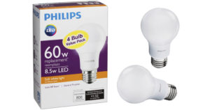 Philips LED 60W Equivalent Light Bulb 4-Pack $3.99 (Reg. $8)