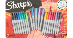 Sharpie Fine Permanent Markers 21-Pack $8.68