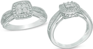 Zales Diamond Accent Sterling Silver Promise Ring $25.99 (Reg. $119)
