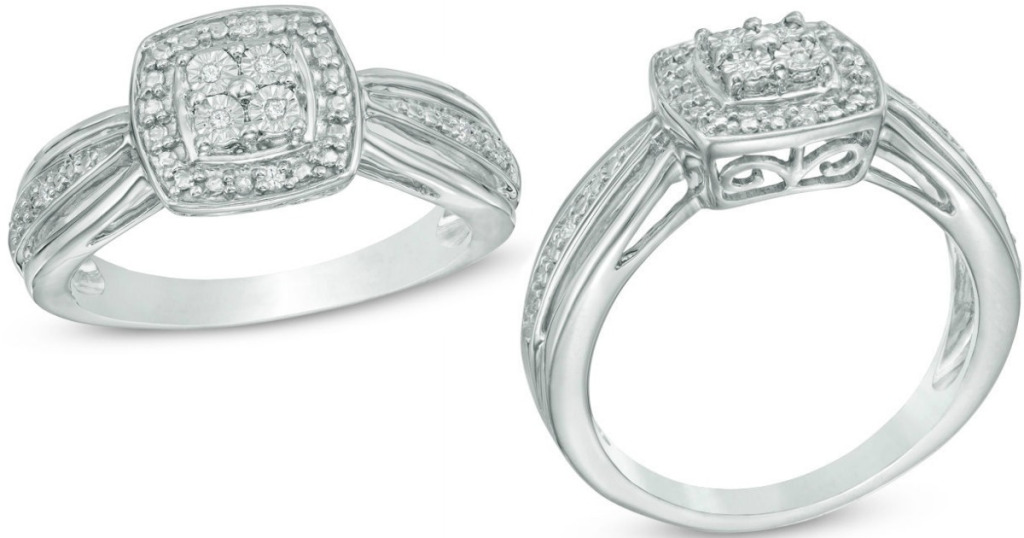 Zales Diamond Accent Sterling Silver Promise Ring $25 99 Reg $119 Wheel