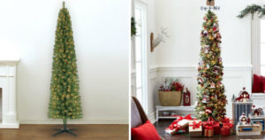 re-Lit 7 Foot Pencil Artificial Christmas Tree $39.99 Shipped (Reg. $99.99)