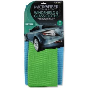 Diamond Weave 2-Pack Microfiber Windshield Cloths $2.39