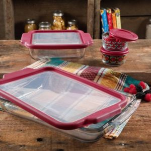 The Pioneer Woman 8-Piece Glass Bake & Store Set $17.88