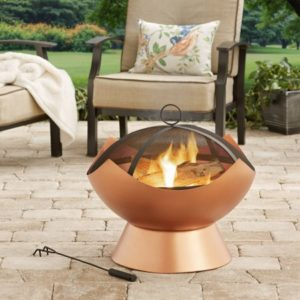 Copper Finish Wood-Burning Firebowl $38.43 Shipped (Reg.$87.49)