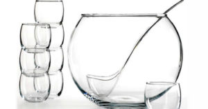 Glass Punch Bowl 10-Piece Set $25.49 (Reg. $43)