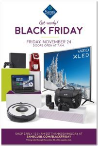 Sam's Club Black Friday Ad Has Been Released