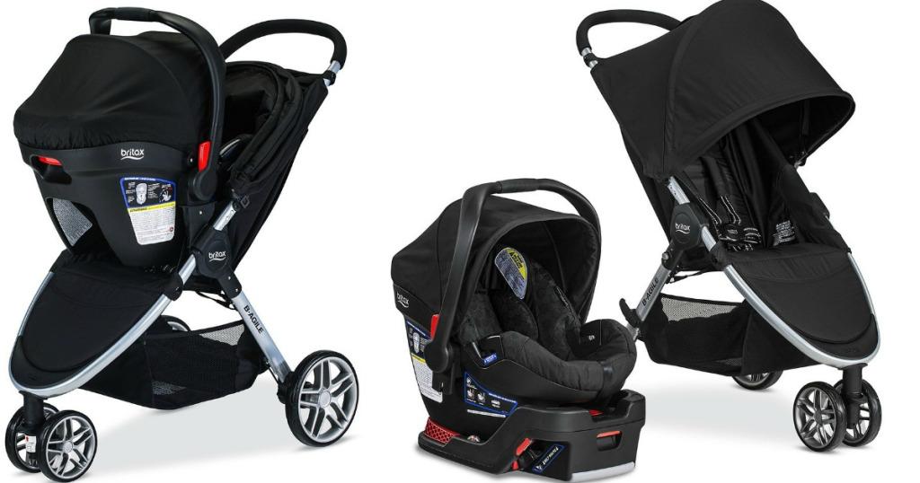 britax stroller car seat base travel system 259 shipped reg wheel n deal mama. Black Bedroom Furniture Sets. Home Design Ideas