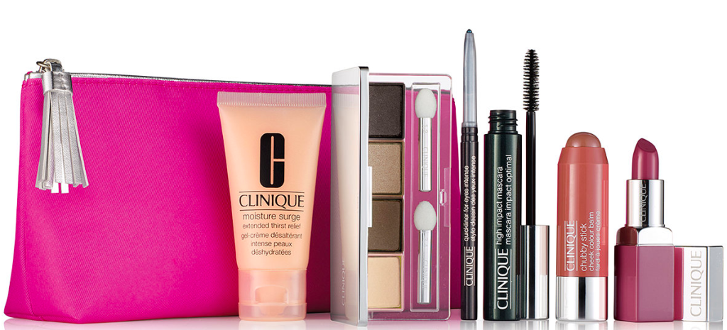 Over worth of clinique products shipped wheel n