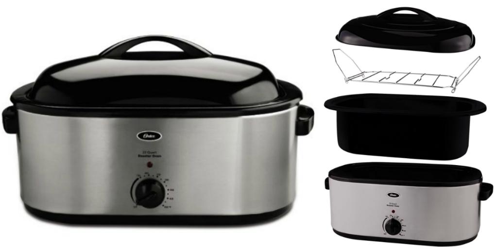 Oster 22-Quart Roaster Oven w/ Self-Basting Lid $37.09 ... Oster 22 Quart Roaster Oven