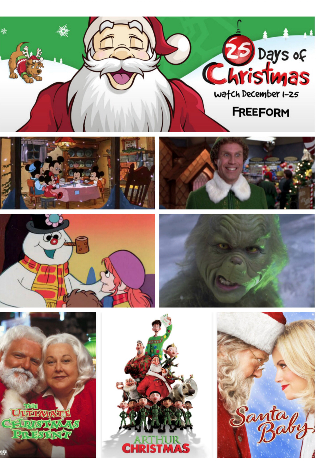 who love christmas movies we do and we are so excited the freeform 25 days