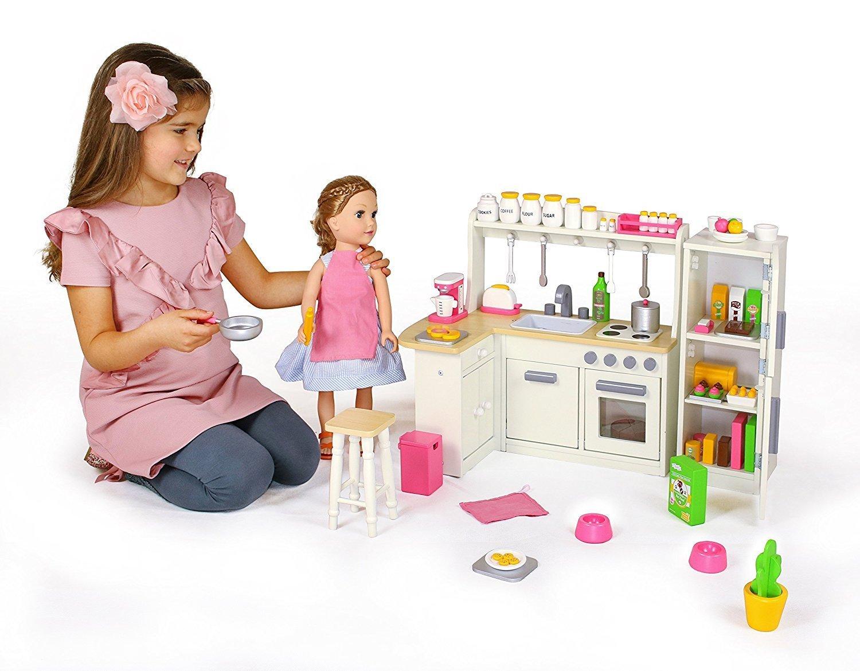 Doll kitchen set w refrigerator and accessories for Kitchen set deals