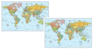 Rand McNally World Wall Map $2.93